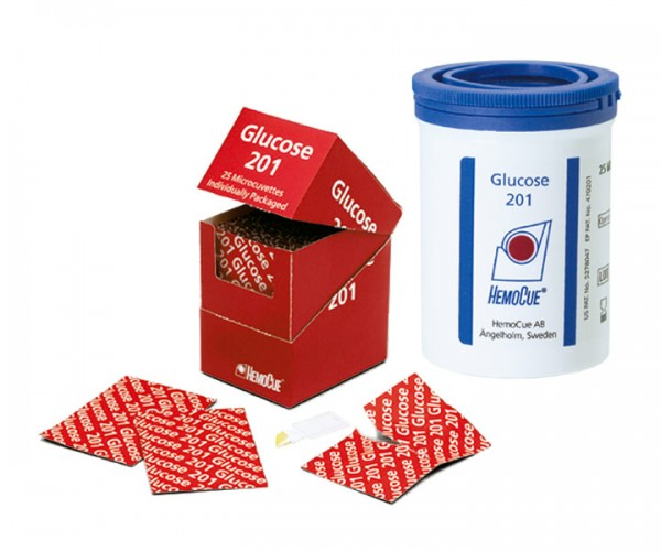 HemoCue Glucose 201 RT Microcuvettes