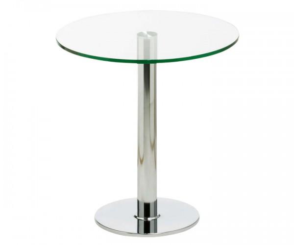Runder Beistelltisch aus Glas