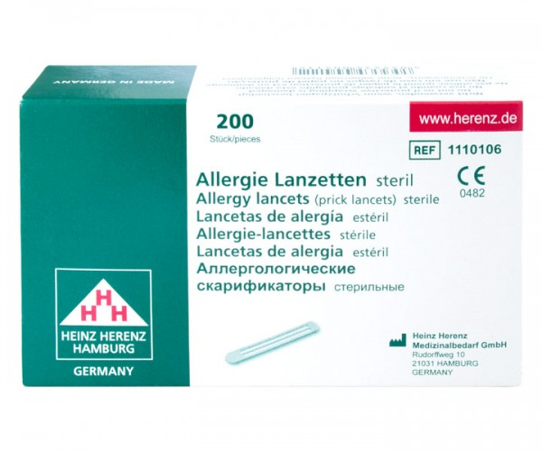 Prick-Test Allergielanzetten