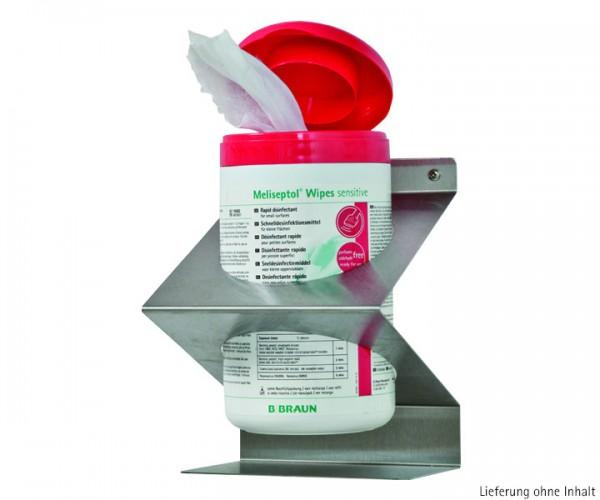 Edelstahl- Wandhalterung für Meliseptol Wipes sensitive